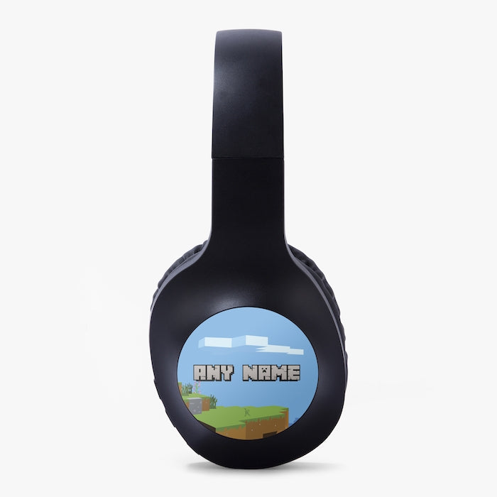 Jnr Boys Gaming Blocks Personalised Wireless Headphones - Image 3
