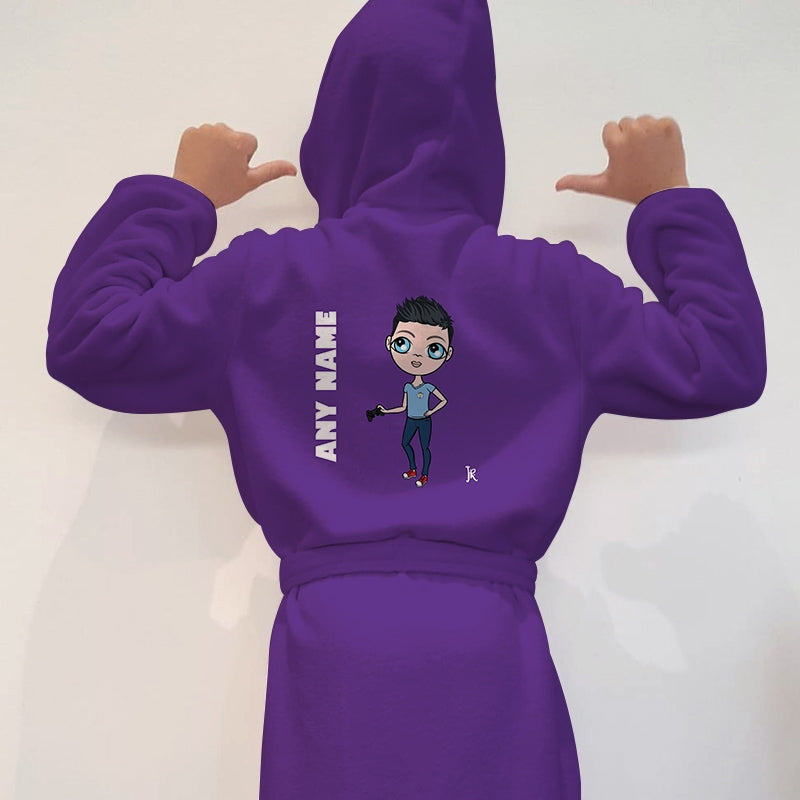 Jnr Boys Purple Dressing Gown - Image 1