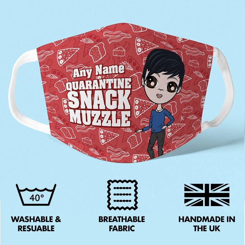 Jnr Boys Personalised Snack Muzzle Reusable Face Covering - Image 2