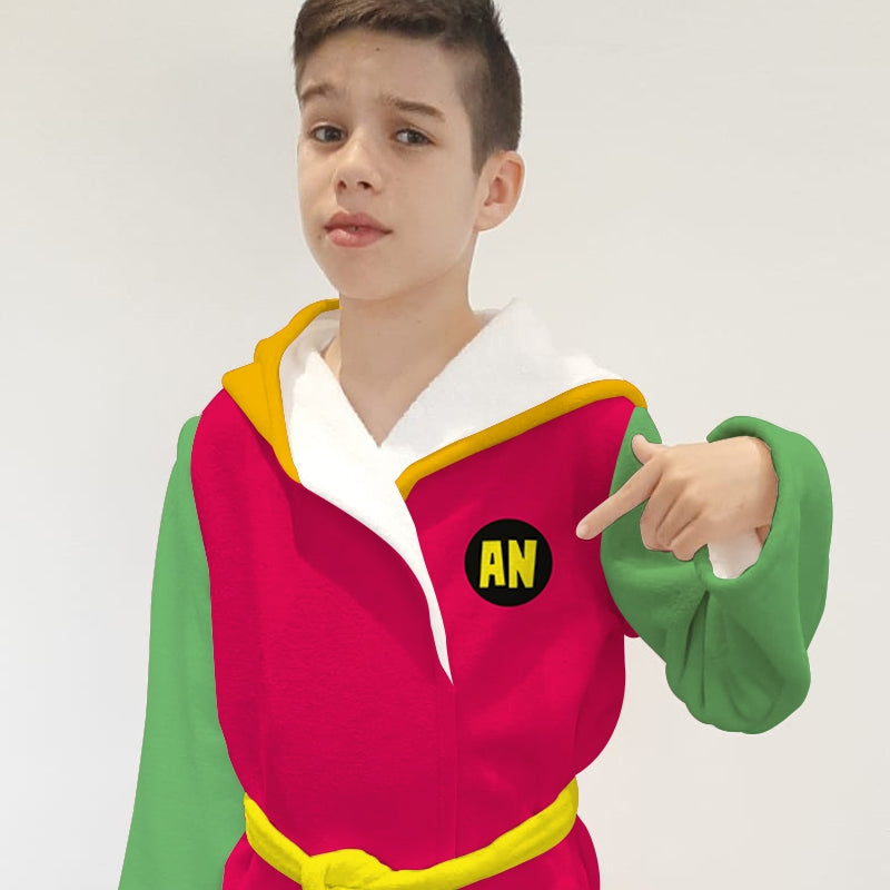 Jnr Boys Teen Heroes Dressing Gown - Image 4