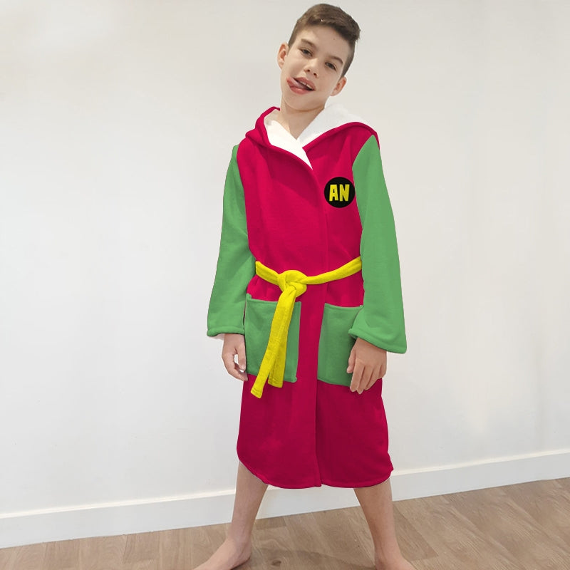 Jnr Boys Teen Heroes Dressing Gown - Image 3