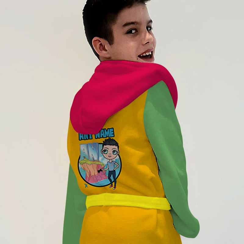 Jnr Boys Teen Heroes Dressing Gown - Image 2