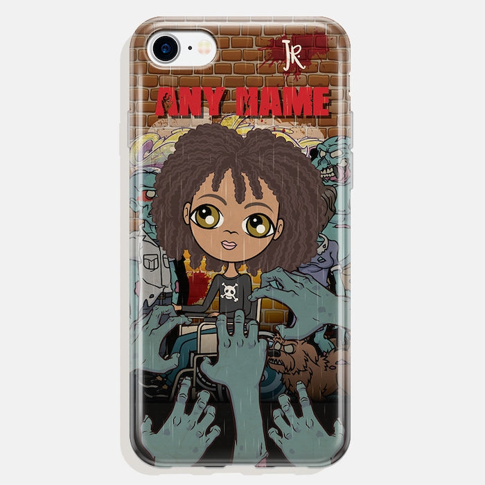 Jnr Boys Wheelchair Personalised Zombie Phone Case - Image 1