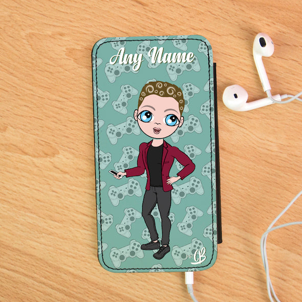 MrCB Personalised Joy Pad Print Flip Phone Case - Image 1