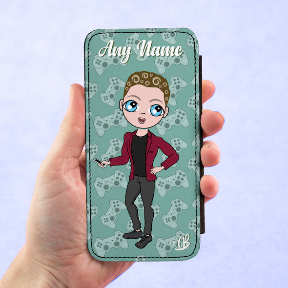MrCB Personalised Joy Pad Print Flip Phone Case - Image 3