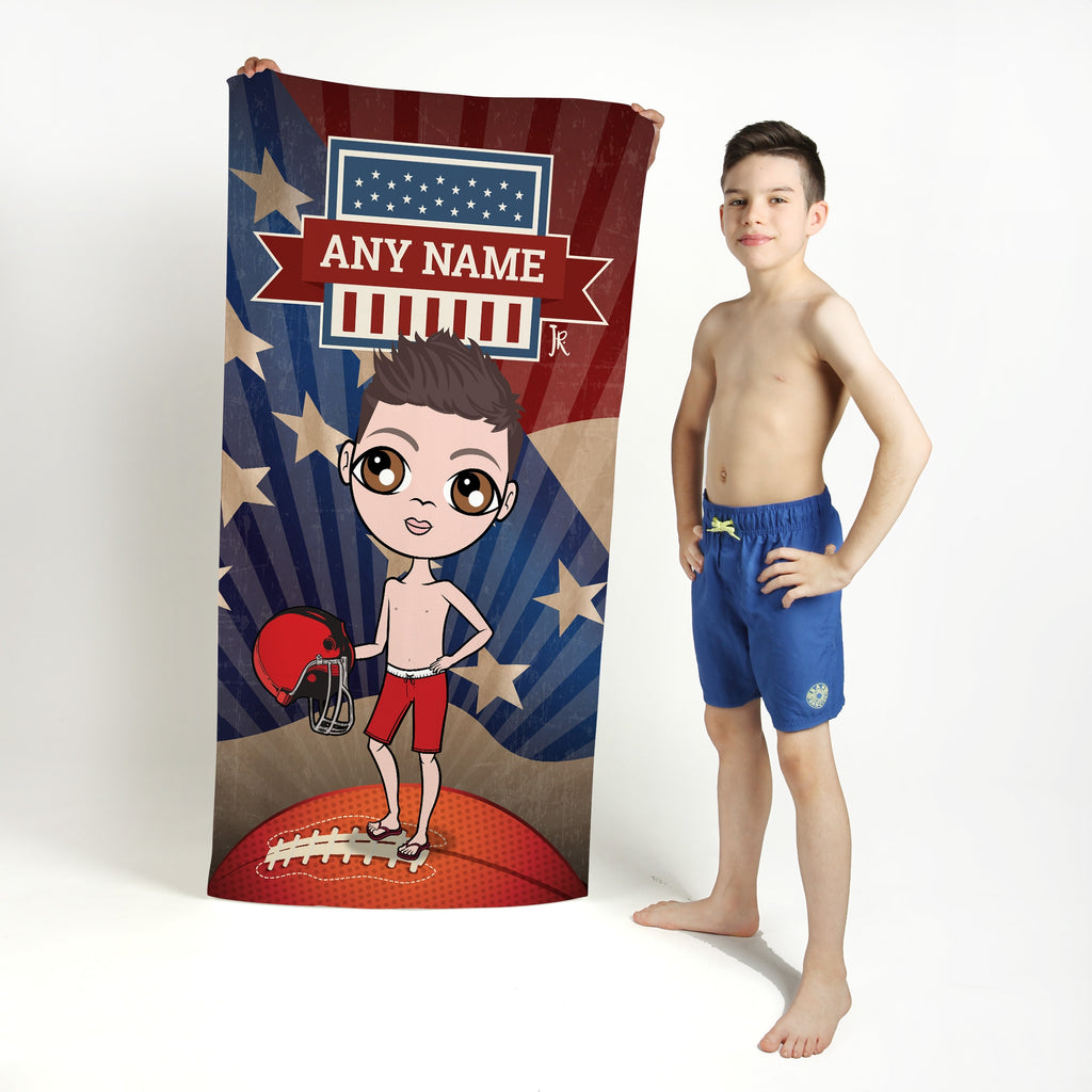 Jnr Boys American Football Beach Towel - Image 1