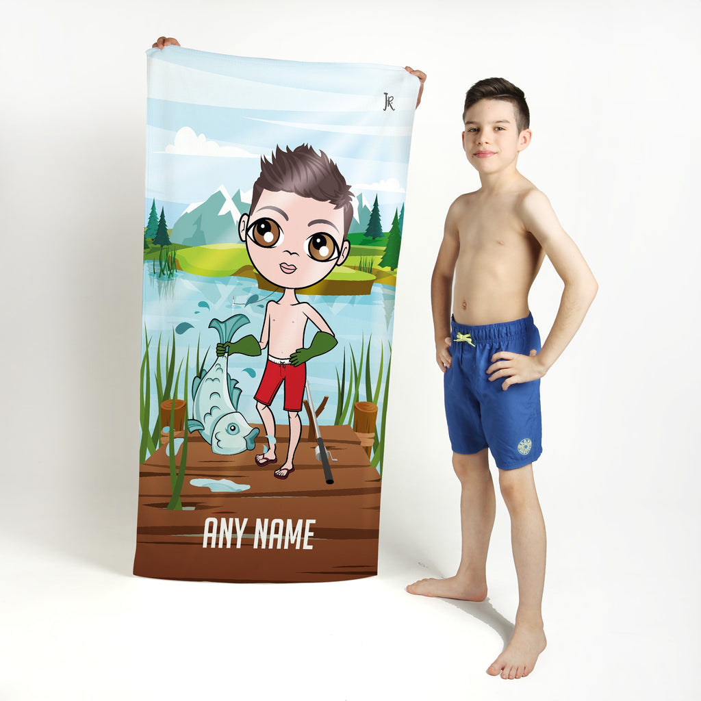 Jnr Boys Catch Of The Day Beach Towel - Image 1