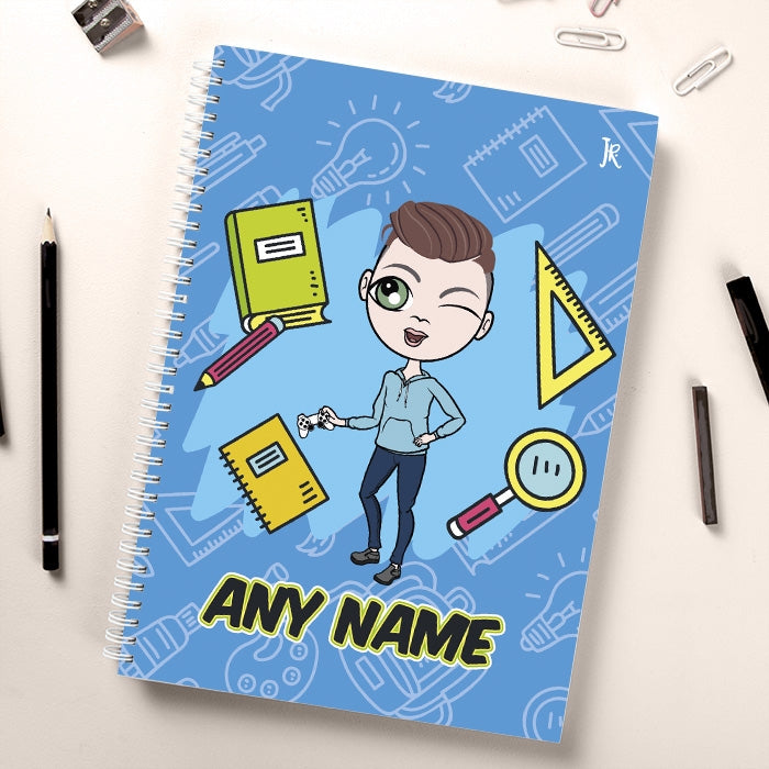 Jnr Boys Essentials Blue Notebook - Image 1