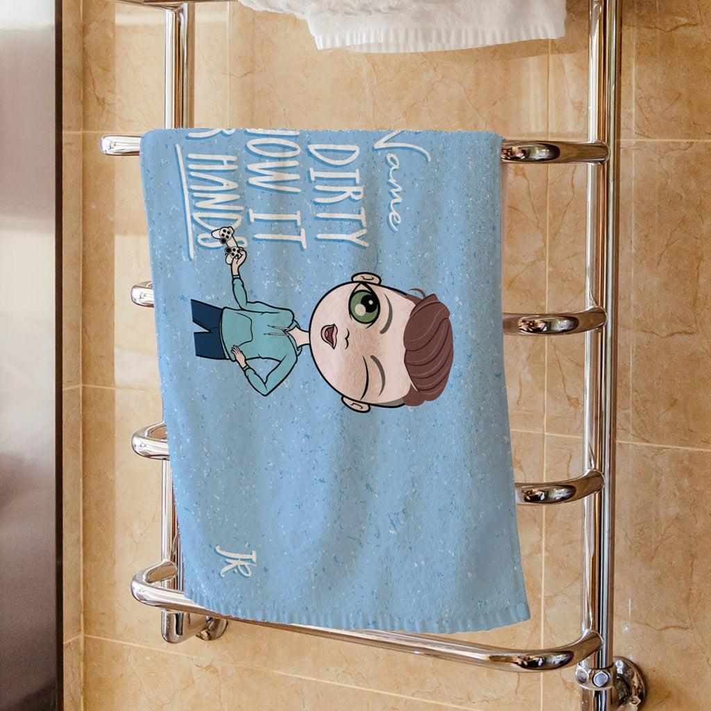 Jnr Boys Happy Hand Towel - Image 1