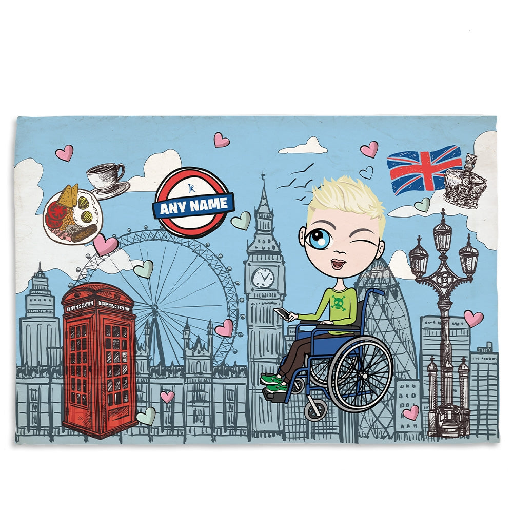 Jnr Boys Love London Wheelchair Fleece Blanket - Image 1