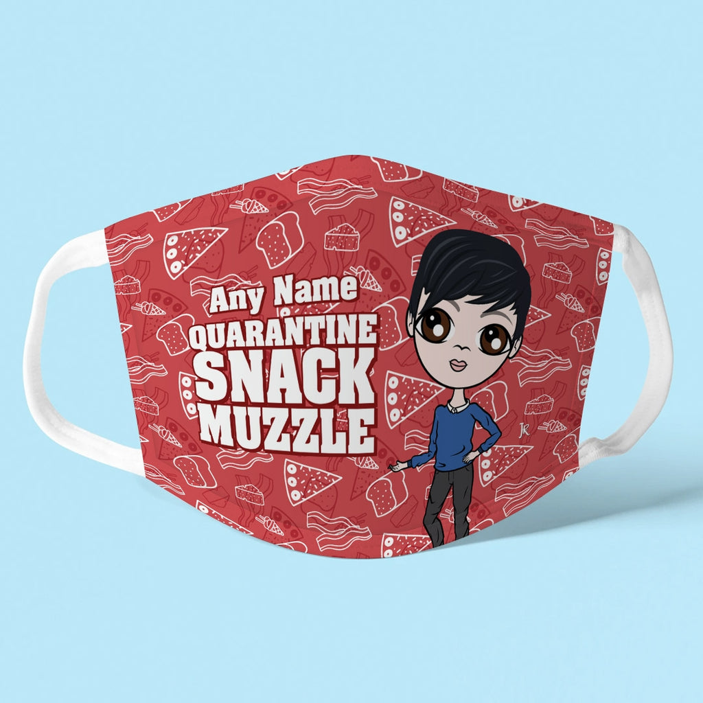 Jnr Boys Personalised Snack Muzzle Reusable Face Covering - Image 1