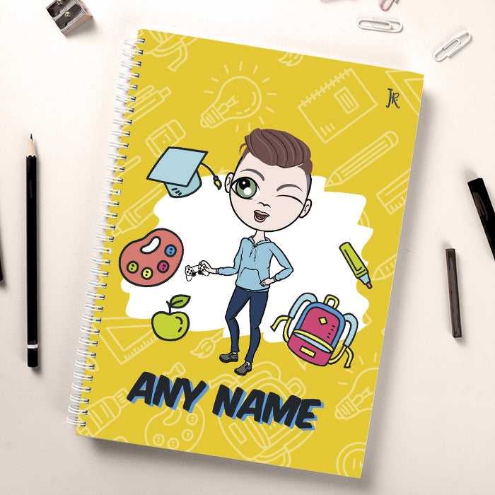 Jnr Boys Essentials Yellow Notebook - Image 1