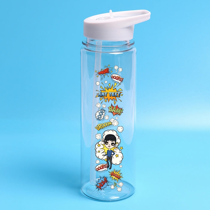 Jnr Boys Comic Water Bottle - Image 1