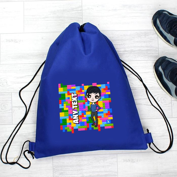Jnr Boys Building Blocks Drawstring Bag - Image 2