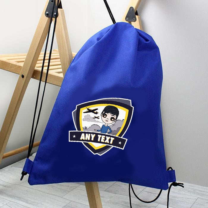Jnr Boys Planes Drawstring Bag - Image 1