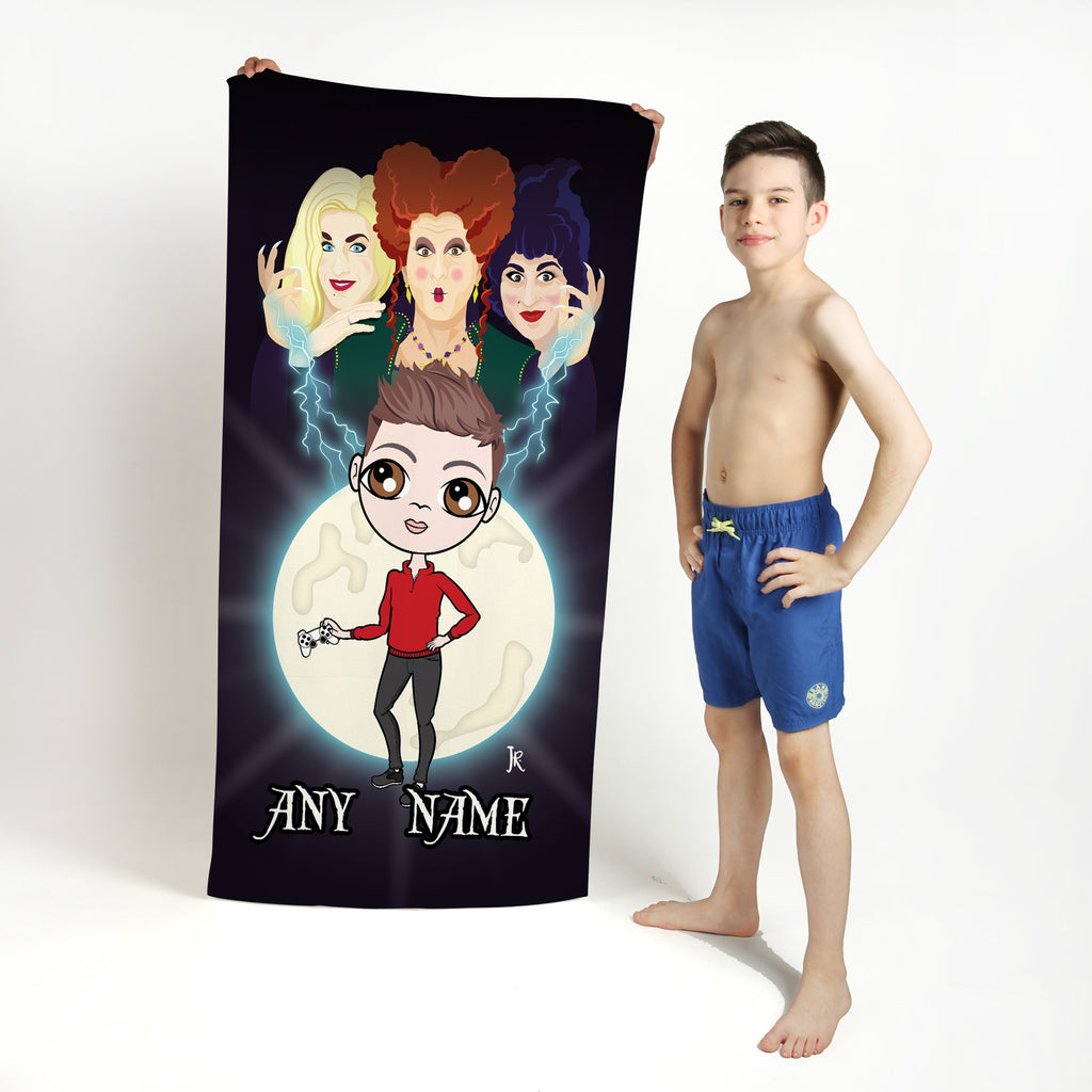 Jnr Boys Mischievous Witches Beach Towel - Image 1