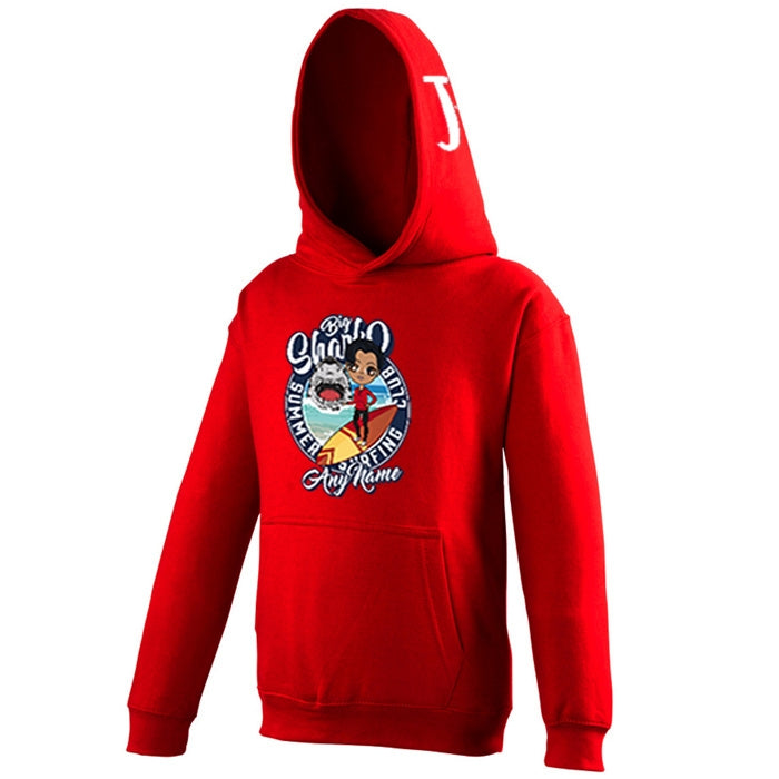 Jnr Boys Big Shark Surfing Hoodie - Image 1