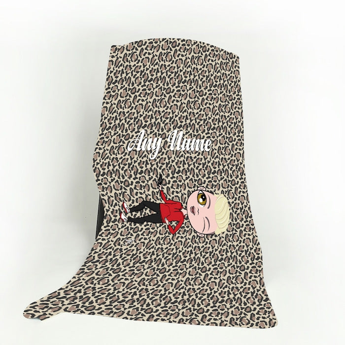 Jnr Boys Leopard Print Fleece Blanket - Image 1