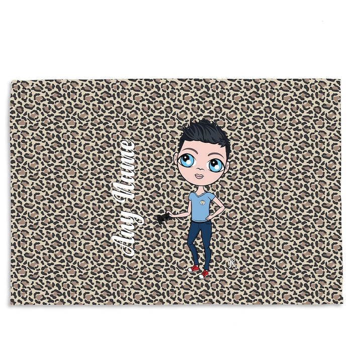 Jnr Boys Leopard Print Fleece Blanket - Image 6