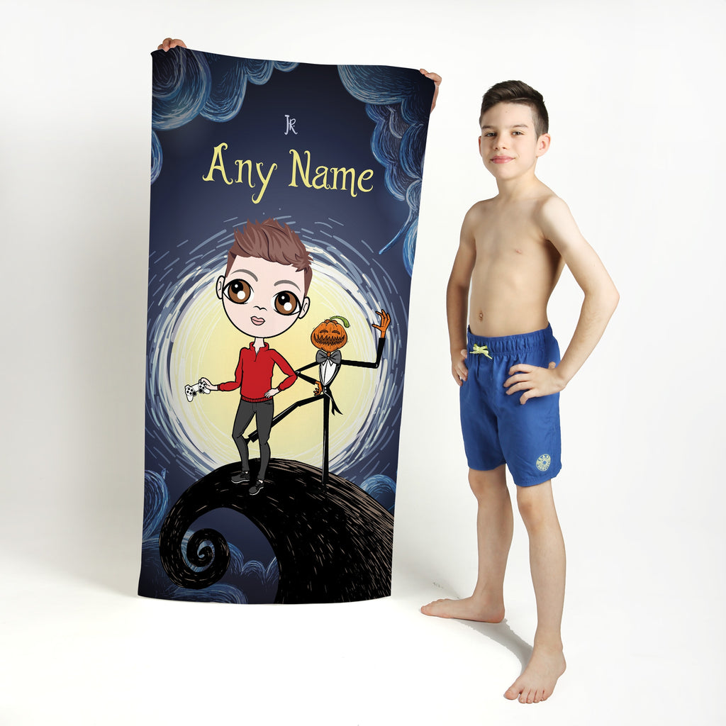 Jnr Boys Halloween Nightmare Beach Towel - Image 1