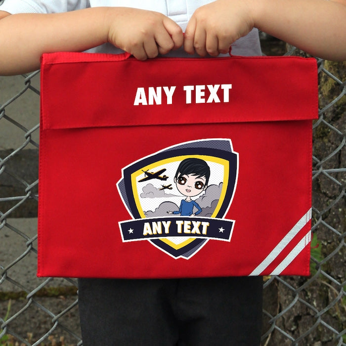 Jnr Boys Planes Book Bag - Image 1