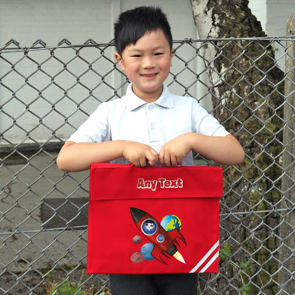 Jnr Boys Rocket Book Bag - Image 4