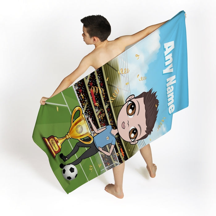 Jnr Boys Football Champ Beach Towel - Image 2