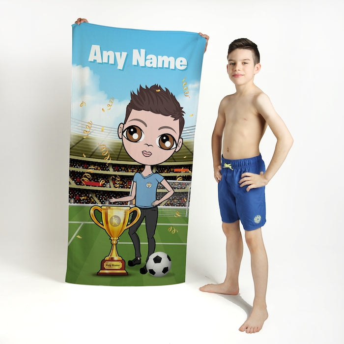 Jnr Boys Football Champ Beach Towel - Image 1