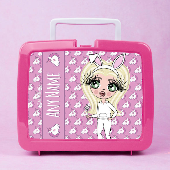 ClaireaBella Girls Unicorn Emoji Lunch Box - Image 1