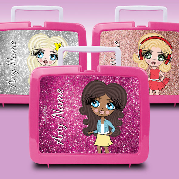 ClaireaBella Girls Glitter Effect Lunch Box - Image 1
