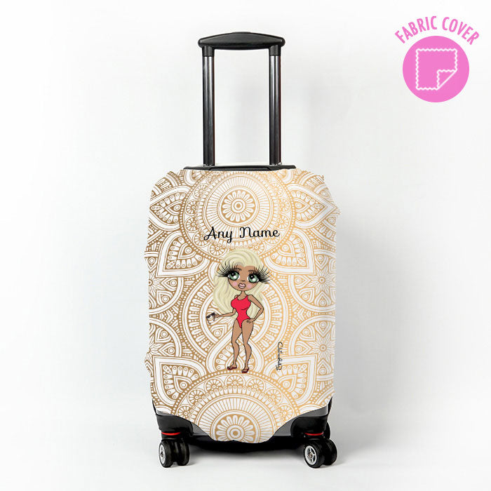 ClaireaBella Golden Lace Suitcase Cover