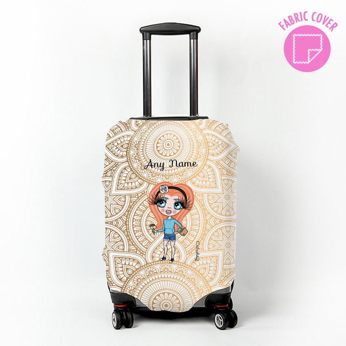 ClaireaBella Girls Golden Lace Suitcase Cover
