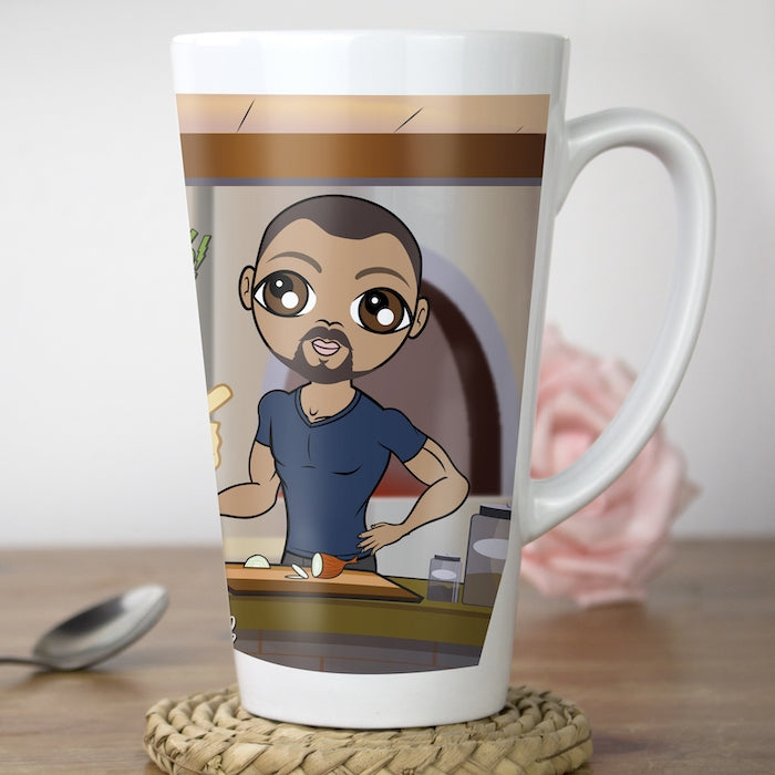 MrCB Shouting Chef Latte Mug - Image 1
