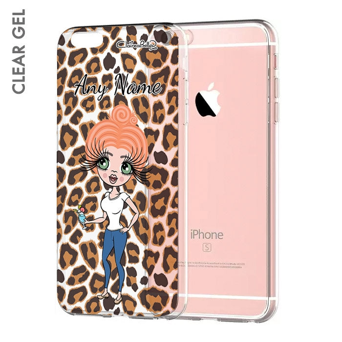 ClaireaBella Leopard Print Clear Soft Gel Phone Case - Image 1