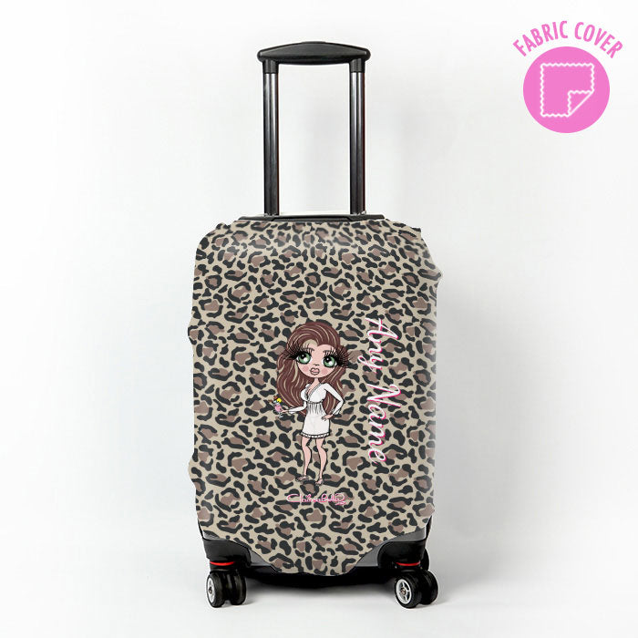 ClaireaBella Leopard Print Suitcase Cover