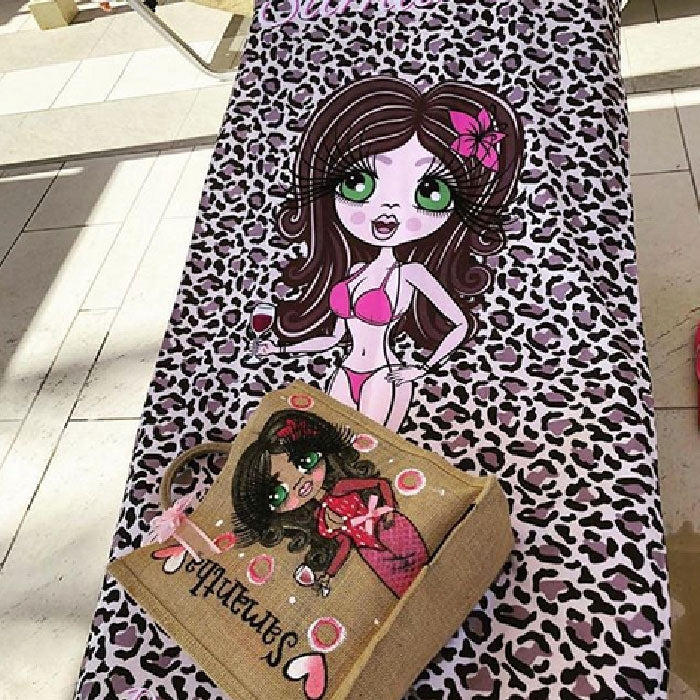 ClaireaBella Leopard Print Beach Towel - Image 7
