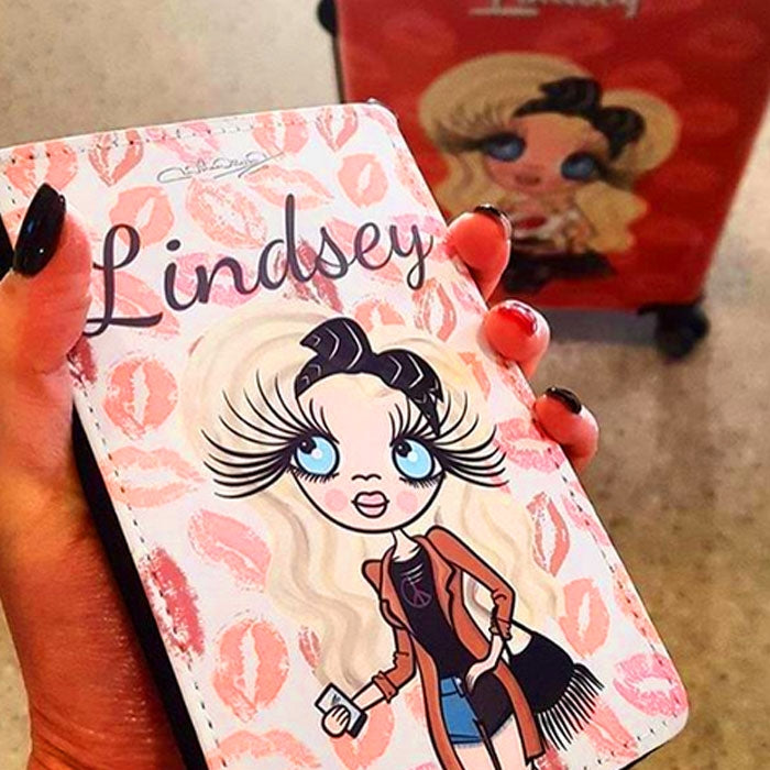 ClaireaBella Lip Print Passport Cover - Image 1