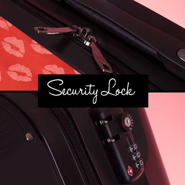 ClaireaBella Girls Lip Print Suitcase - Image 9