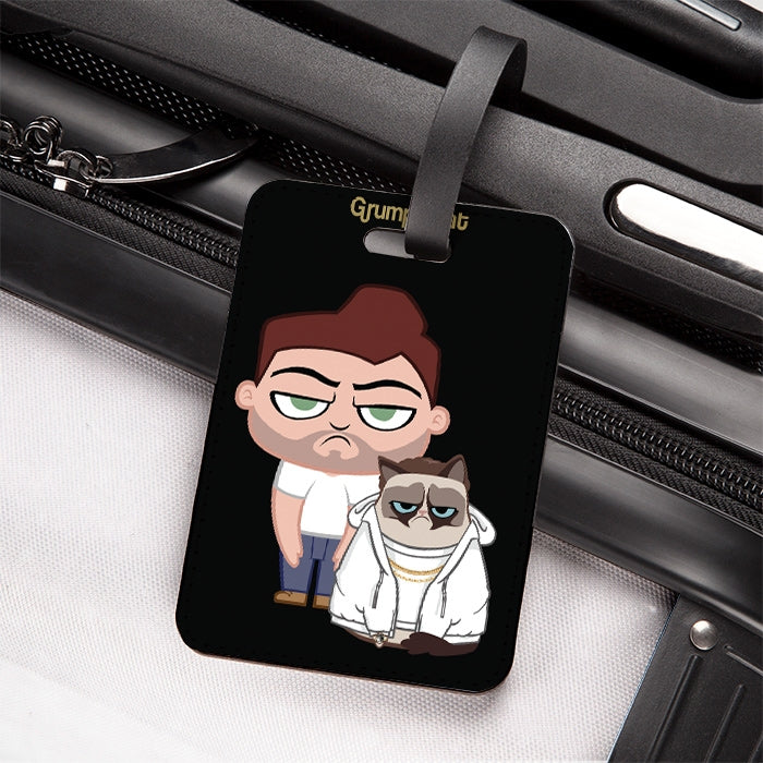 Grumpy Cat At The Bottom Luggage Tag - Image 1