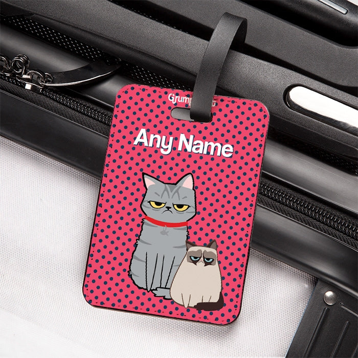 Grumpy Cat Polka Dot Luggage Tag - Image 3