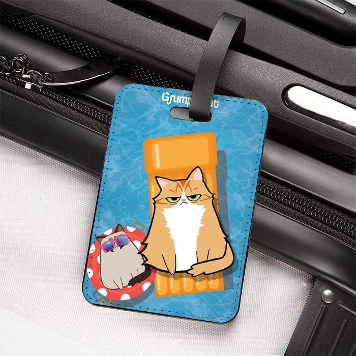 Grumpy Cat Holiday Over Luggage Tag - Image 3