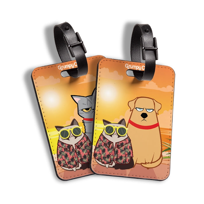 Grumpy Cat Long Walks Luggage Tag - Image 4