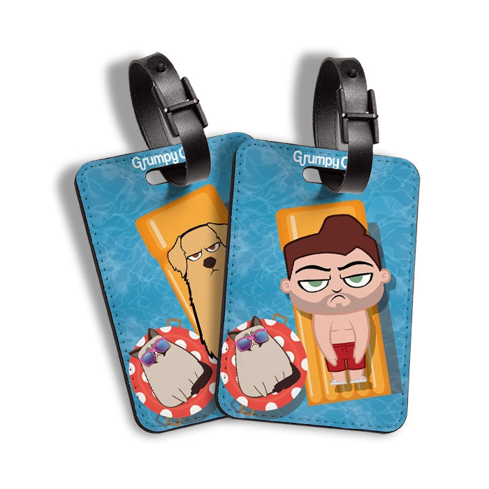 Grumpy Cat Holiday Over Luggage Tag - Image 4