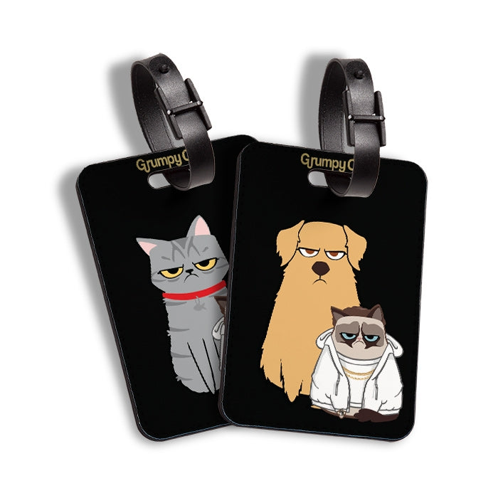 Grumpy Cat At The Bottom Luggage Tag - Image 4