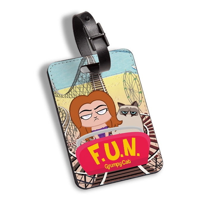 Grumpy Cat Had Fun Luggage Tag - Image 1