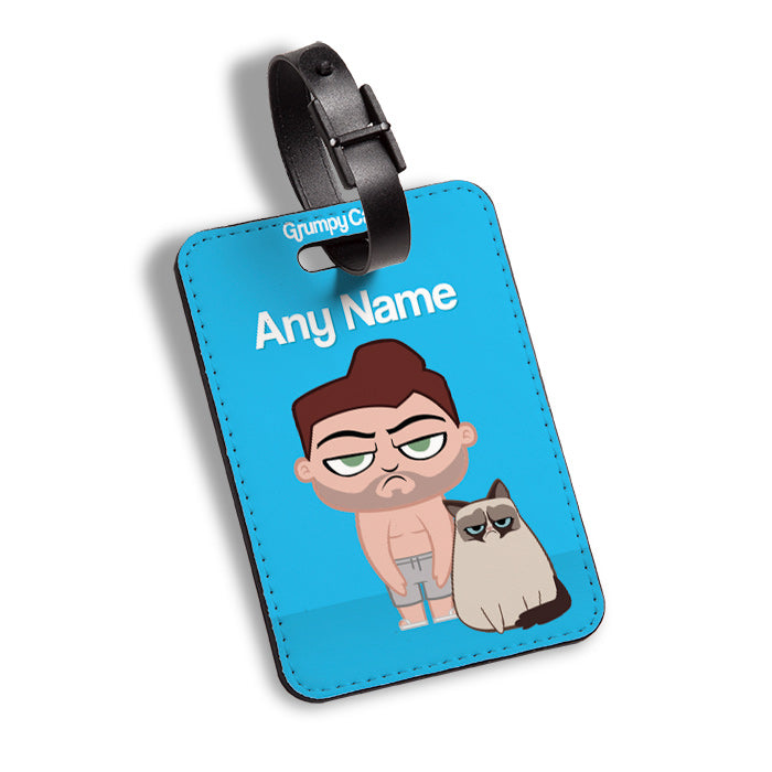 Grumpy Cat Blue Luggage Tag