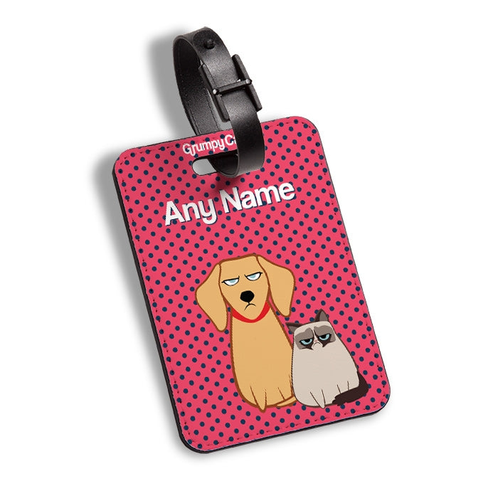 Grumpy Cat Polka Dot Luggage Tag - Image 4