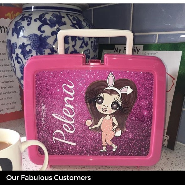ClaireaBella Girls Glitter Effect Lunch Box - Image 5