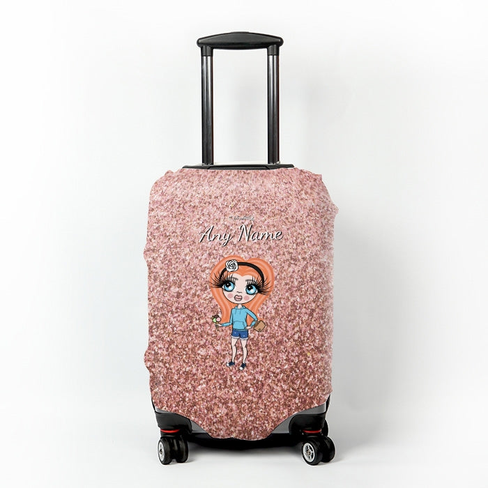 ClaireaBella Girls Glitter Effect Suitcase Cover - Image 6