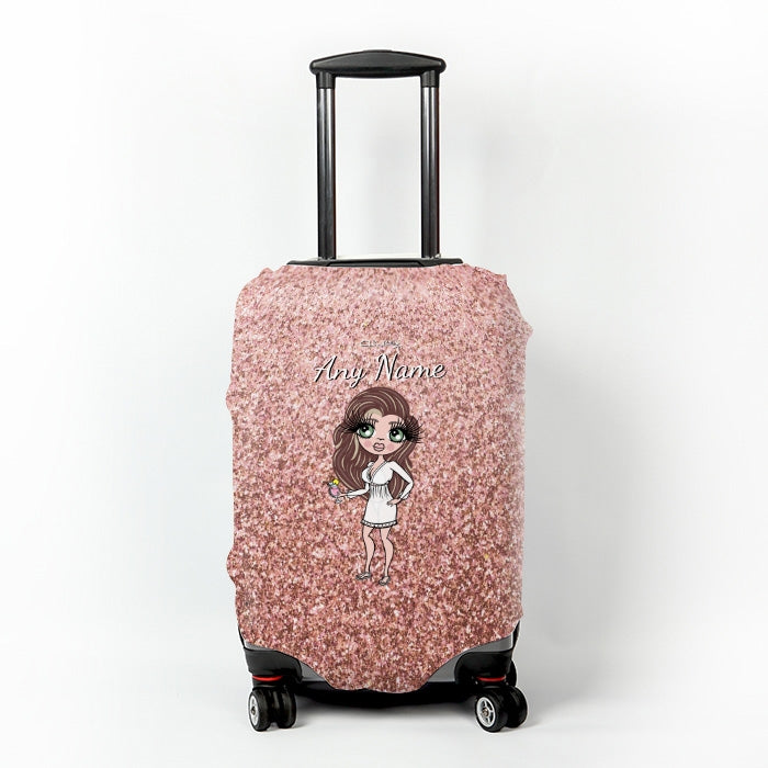 ClaireaBella Glitter Effect Suitcase Cover - Image 5